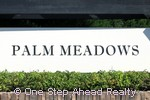 Palm Meadows community sign